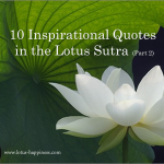 10 Inspirational Quotes in the Lotus Sutra (Part 2)