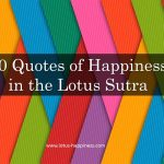 10 Quotes of Happiness in the Lotus Sutra