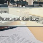 Gosho #13 – The Person and the Law